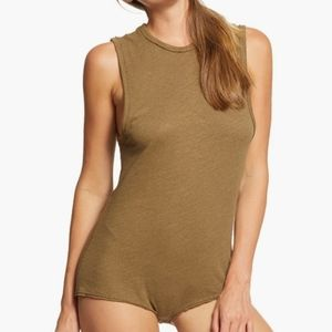 New Free People  Army Green Body Suit